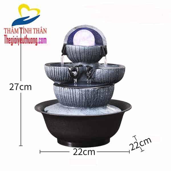 Kích thước Thác nước phong thủy để bàn mini ĐỘC ĐÁO