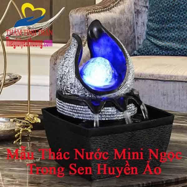 Mẫu Thác nước Mini Ngọc Trong Sen, Vẻ Đẹp Huyền Bí