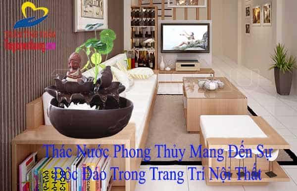 Thác nước Gốm sứ Đức Phật BÀi trí Phòng Khách