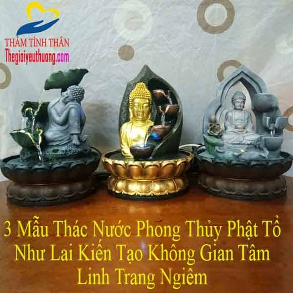 Thác Nước Phong Thủy Đức Phật Tọa Thiền