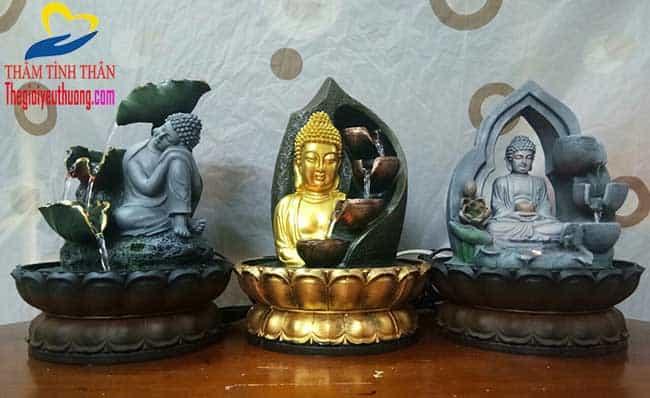 Bộ 3 mẫu thác nước phong thủy Phật Tổ Như Lai