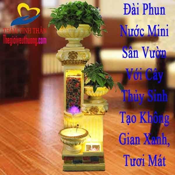Đài Phun nước mini phong thủy San Vườn