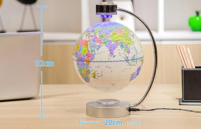 Kích thước quả địa cầu không trọng lượng độc đáo 8 inch khung chũ C