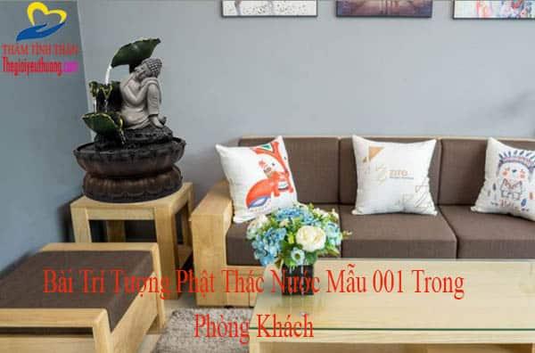 Thác Nước Phong Thủy Tượng Phật Nhỏ Bài Trí Phòng khách