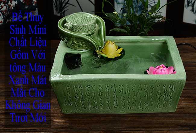 Bể thủy sinh mini mang đến không gian trong lành