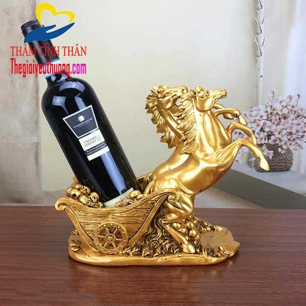 Kệ rượu mini trang trí bàn Khách