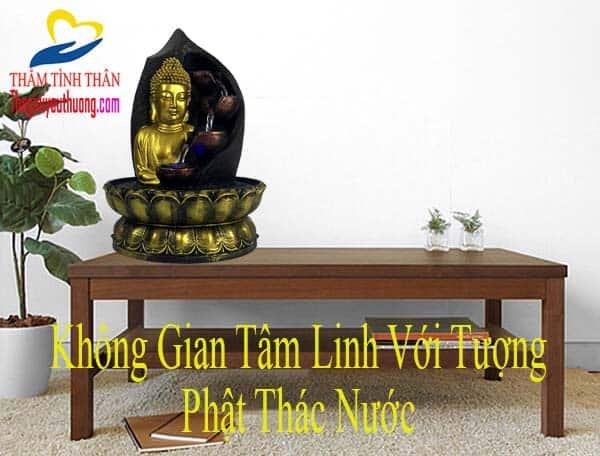 Không gian linh thiêng với Tượng Phật Thác Nước Phong Thủy