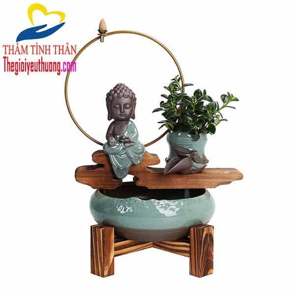 Phong Thủy Luân Để Bàn Mini Đức Phật Tọa Thiền – Không gian an lành và Hạnh Phúc