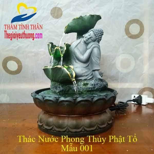 Tượng Phật Thác Nước Phong Thủy