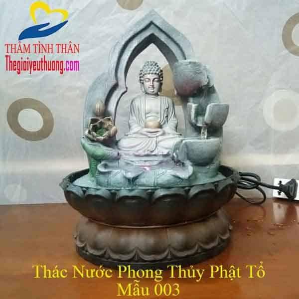 Thác Nước Phong thủy Để bàn tượng Phật Nhỏ