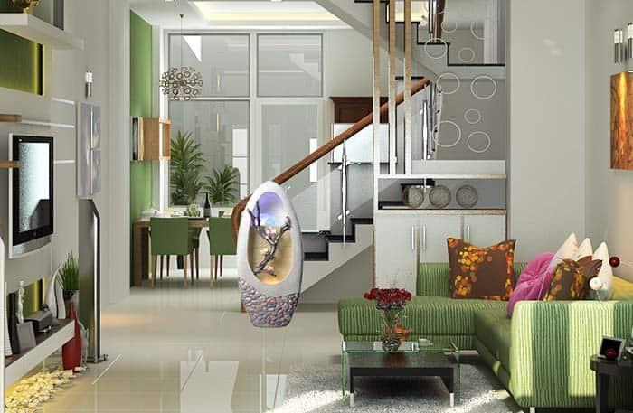 Đài phun nước Đào Phai trong Phòng khách
