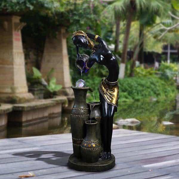 Mẫu đài phun nước phong thủy tuyệt đẹp cho sân vườn