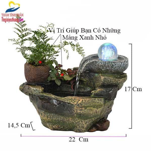Kích thước thác nước mini để bàn Nhỏ