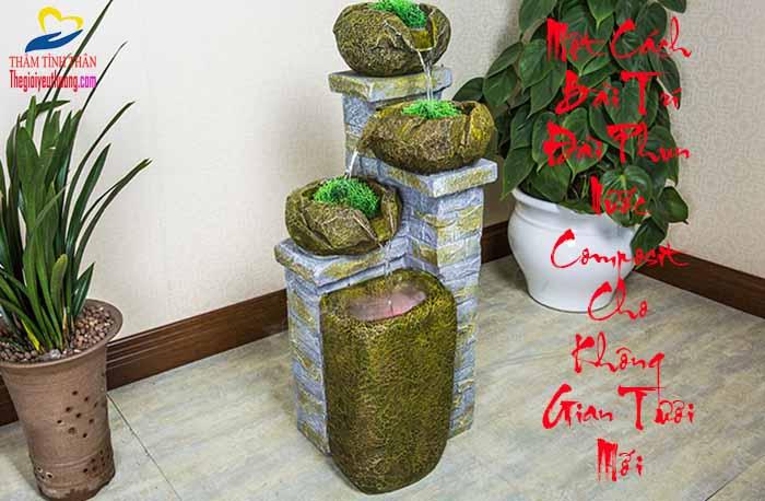 CHất liệu composite cho đài phun nước độc đáo