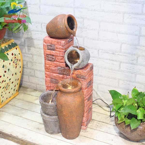 """Tiểu cảnh đài Phun Nước Phong Thủy """"Bức Tường Huyền Thoại"""""""