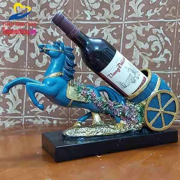 Giá rượu vang để bàn Tượng Tuấn Mã Tung Vó Tuyệt Đẹp