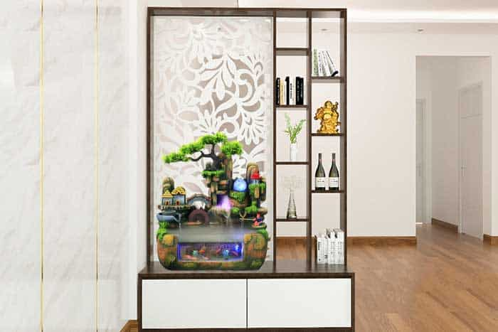 Một không gian phong thủy trong căn hộ Với Hồ thủy sinh mini