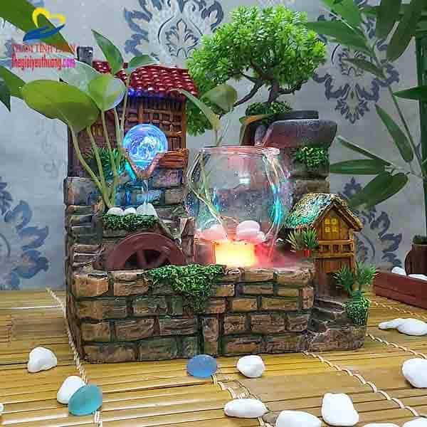 Tác Phẩm Hồ thủy sinh mini non bộ phong thủy tuyệt đẹp