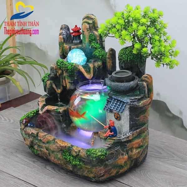 Tiểu cảnh bể cá mini Xứ Sở Thần Tiên Tuyệt Đẹp