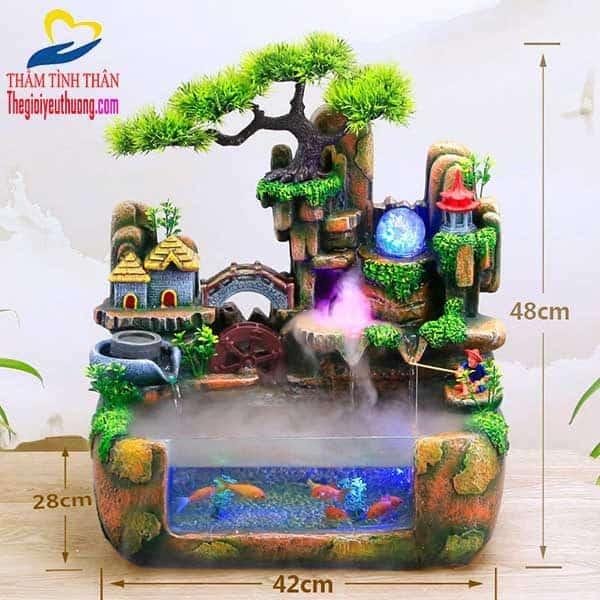 Kích thước Bể cá thủy sinh Mini Hòn Non Bộ Nhỏ Bồng Lai Tiên Cảnh