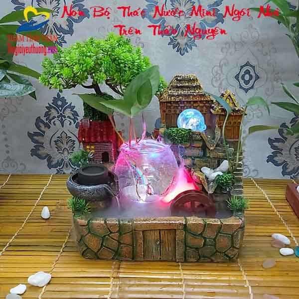 Non bộ Thác Nước Mini Ngôi Nhà trên thảo nguyên