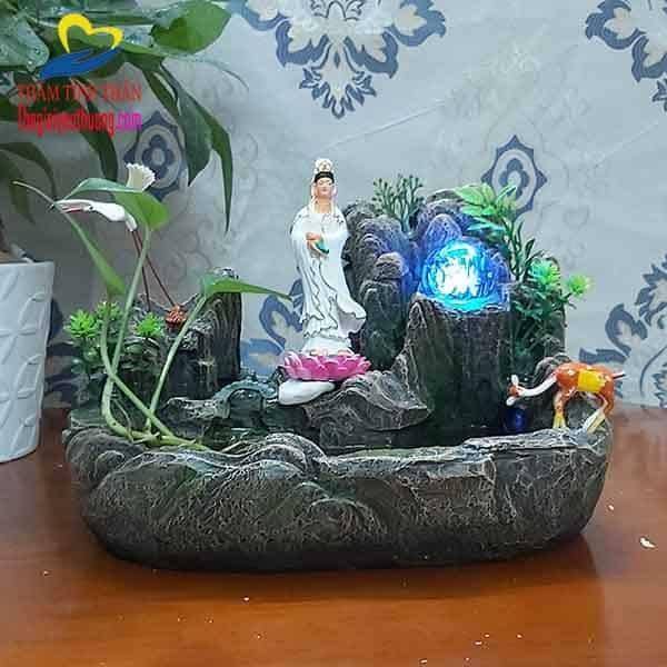 Phật bà quan âm mang đến nét linh thiêng Cho không gian non bộ mini