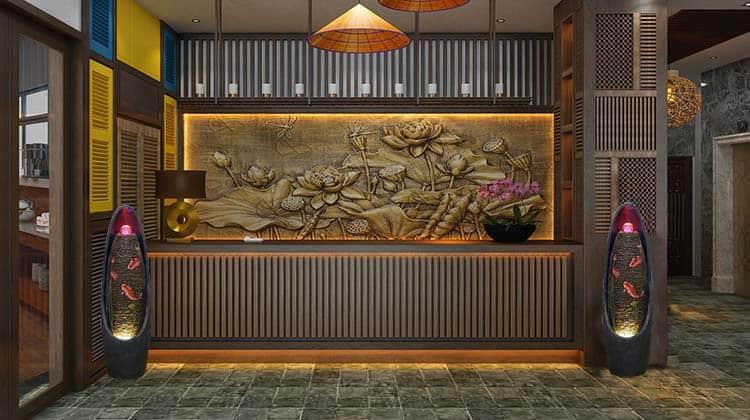 Thác Nước Phong thủy Bài trí Sảnh tòa nhà khách sạn
