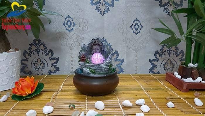 Thác Nước Phong thủy Kết Hợp Tượng Đức Phật Tuyệt Đẹp