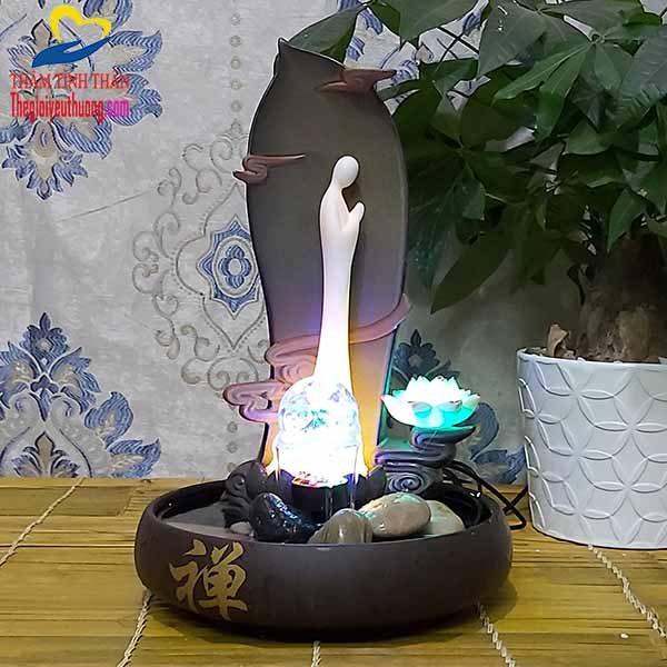 Thác nước mini Phong thủy thiền đạo mang nét đẹp Mộc mạc