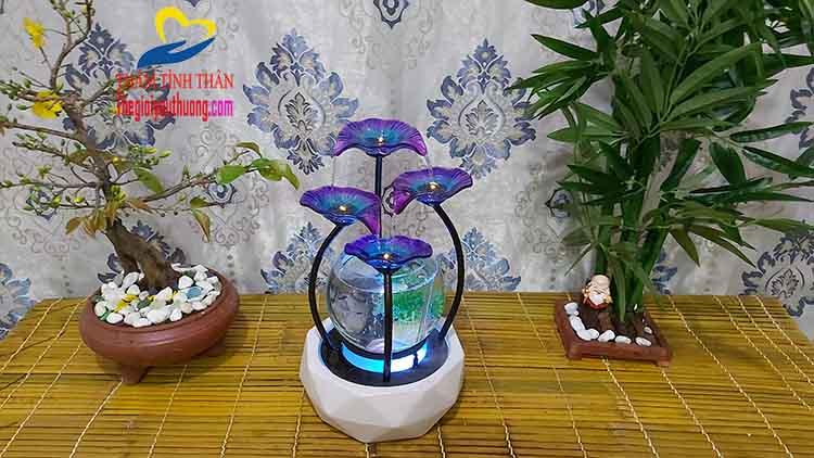 Nét đẹp giản đơn Tuyệt mỹ của bể cá mini Phong Thủy Bông thủy tinh