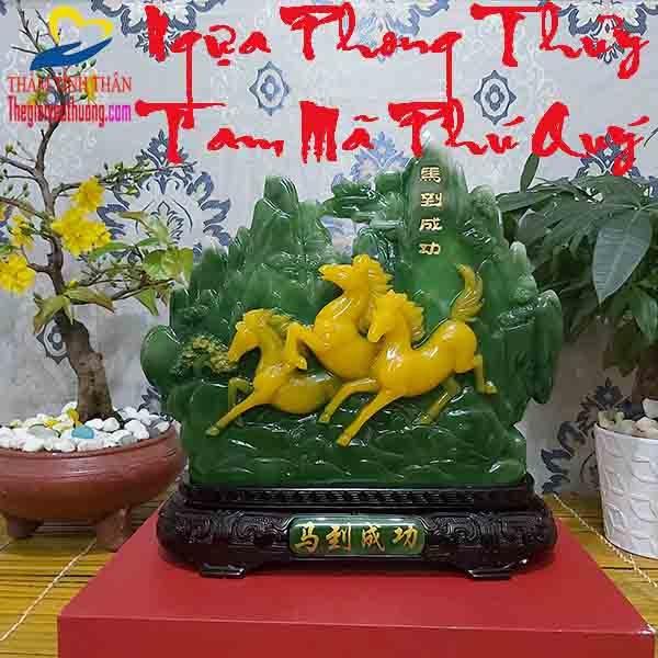 【 Ngựa Phong Thủy Tam Mã Tài Lộc 】Mang Đến Thịnh Vượng - May Mắn