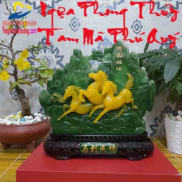 【 Ngựa Phong Thủy Tam Mã Tài Lộc 】Những Chú Tuấn Mã của Thịnh Vượng – May Mắn