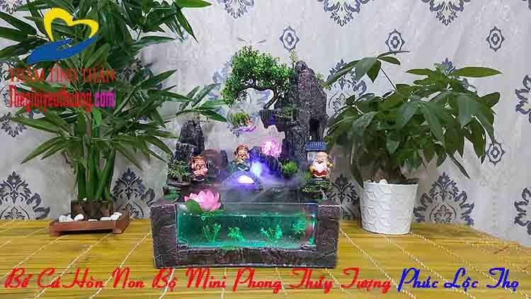 Bể Cá Mini Phong thủy Thác Nước
