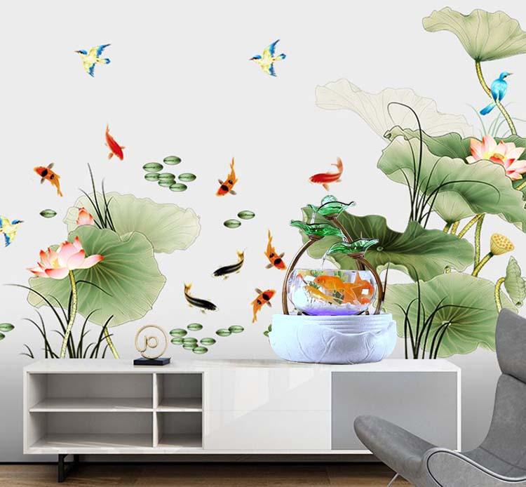 20+ Mẫu Bể Cá Mini Thủy Sinh Thác Nước Phong Thủy Tuyệt Đẹp