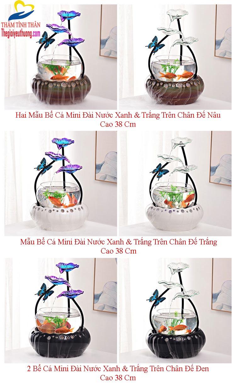 6 Mẫu 【 Hồ Cá Để Bàn Thủy Tinh Phong Thủy】 Cánh Bướm Trong Vườn Hoa