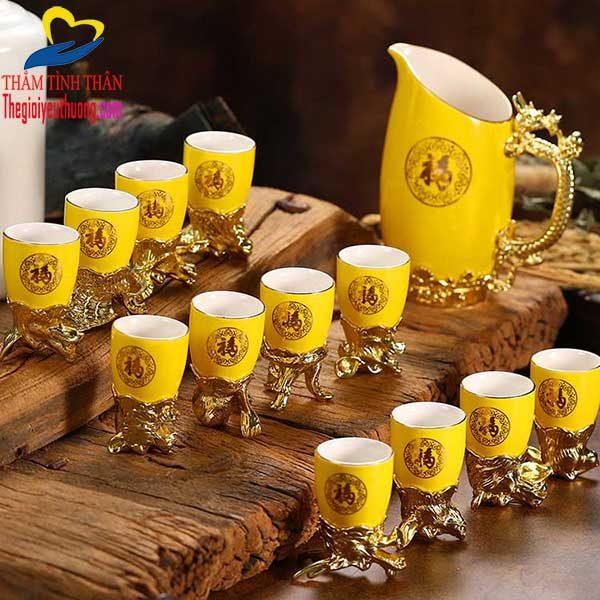 Bộ Ly 12 con giáp Mạ vàng Tuyệt đẹp
