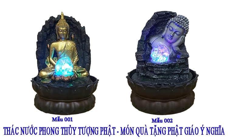 2 Mẫu Thác Nước Phong thủy Đức Phật Ý Nghĩa