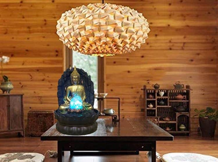 Góc thiền đạo Với Tượng Phật Thác Nước Mẫu 001