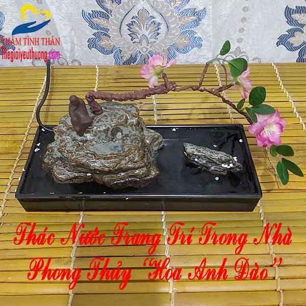 Thác Nước Trang Trí Trong Nhà Mini PHONG THỦY [HOA ANH ĐÀO]