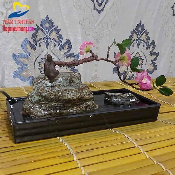 Thác Nước Phong Thủy Mini HOA ANH ĐÀO