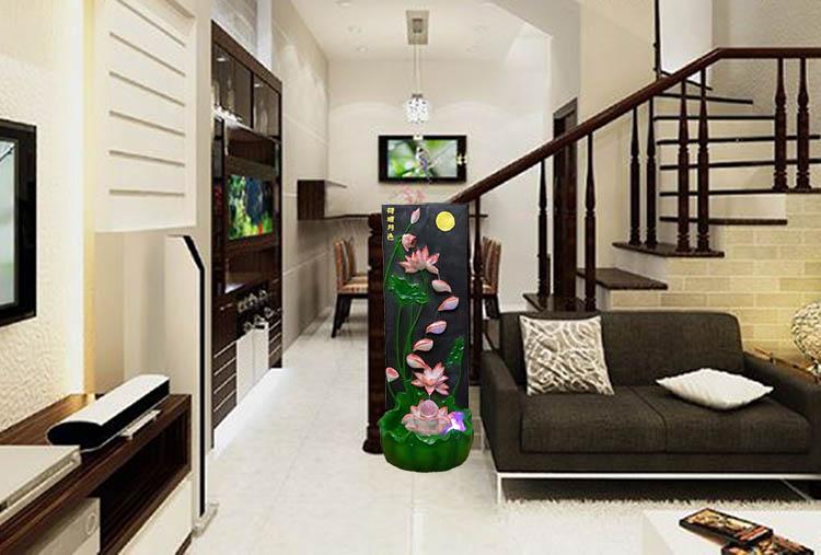 Thác Nước Phong Thủy Cho Phòng khách Nhà ống