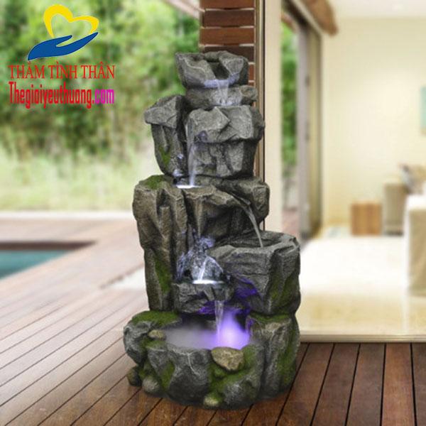 Tiểu cảnh thác nước Phong thủy Cõi thiên Thai