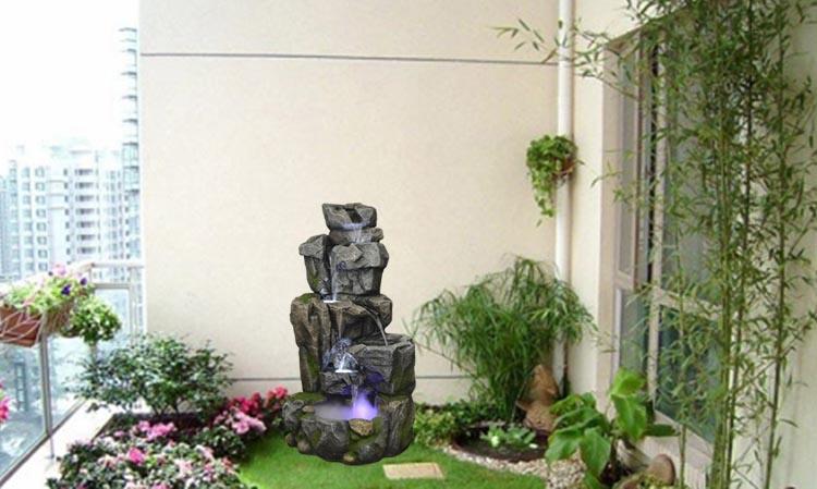 Mẫu sân vườn Với Thác Nước Phong thủy Làm điểm Nhấn