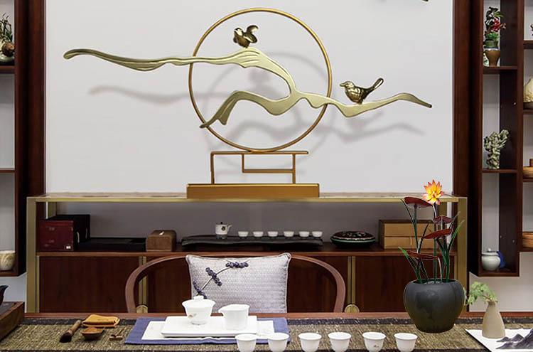 Không gian thư giãn, thưởng trà với thác nước Hoa Nghệ Thuật Làm Điểm Nhấn