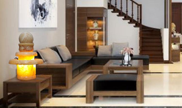 Không gian nội thất theo phong thủy tuyệt Đẹp với đài phun nước đá Cẩm Thạch