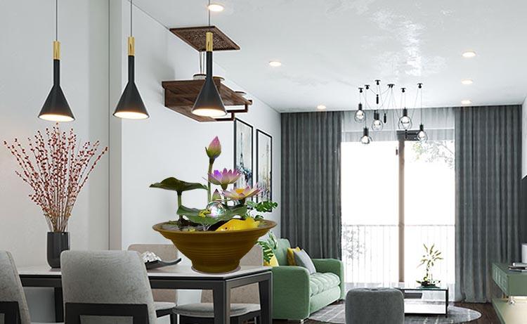 Kiến tạo không gian nội thất phong khách theo phong thủy và gần gũi thiên nhiên