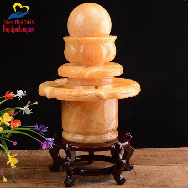 Mẫu Đài Phun nước để bàn phong thủy bằng Đá Cẩm Thạch