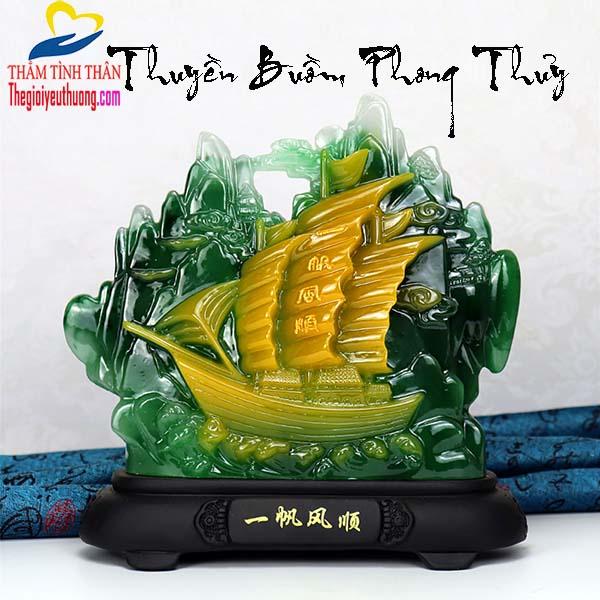 Mô Hình Thuyền Buồm Phong Thủy -Thuận Buồm Xuôi Gió-