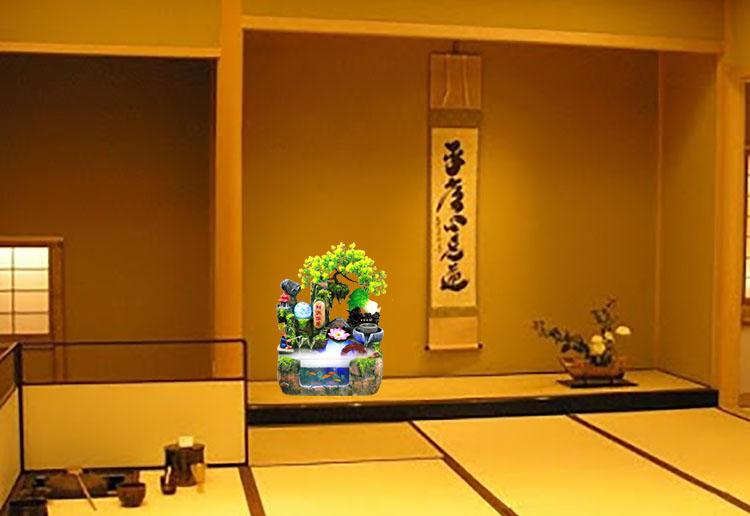 Quán trà đạo Độc đáo với việc bài trí bể cá thác nước