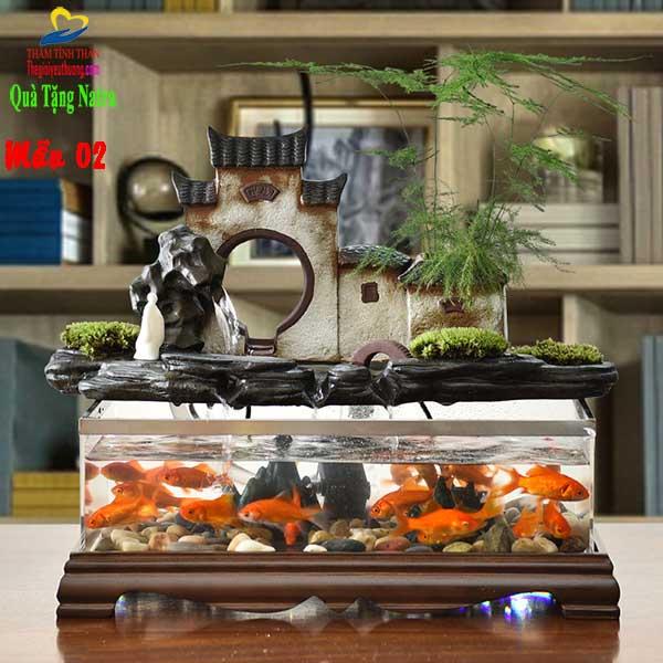 Góc Nội thất đẹp với Bể Cá Mini Bến Nước Sân Đình
